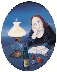 Výsledek obrázku pro iva huttnerová kalendář Socialist Realism, Stage Decorations, Woman Reading, Central Europe, Naive, Painted Rocks, Art History, Surrealism, Disney Characters