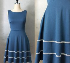 Hey, I found this really awesome Etsy listing at https://www.etsy.com/listing/185641530/coquette-marine-dusty-navy-blue-dress