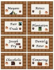 Chocolate Topic Cards for display or for learning key topic vocabulary Primary Teaching, Teaching Resources, Vocabulary, Place Card Holders, Display, Key, Chocolate, Learning, Cards