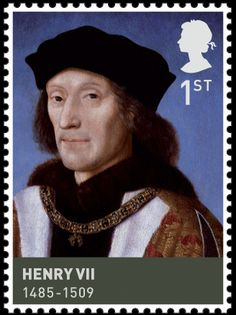Henry VII (1457-1509) was King of England and Lord of Ireland from his seizing the crown 1485 until his death  1509, as the first monarch of the House of Tudor. 1st  British Stamp (2009)