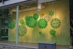 Bubbles, a stunning window installation made from plastic bottles.