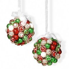 Trim your tree with eye-catching holiday appeal using this National Tree Company glitter ball Christmas ornament set. Grinch Christmas Decorations, Christmas Ornament Crafts, Christmas Themes, Christmas Fun, Holiday Crafts, Christmas Wreaths, Diy Xmas Decorations, Diy Christmas Projects, Christmas Crafts To Make