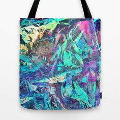 Holographic II Tote Bag by Nestor2 - $22.00