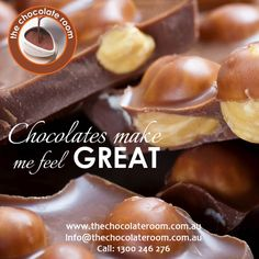 #Chocolates make me feel GREAT :)  #ChocolateLovers, follow us @chocolateroomau