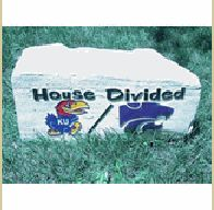 Welcome to life in Kansas. K-State rocks in football, KU is king of the hoops.  (Typically.)