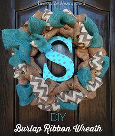 Barksdale Blessings: DIY Burlap Ribbon Wreath