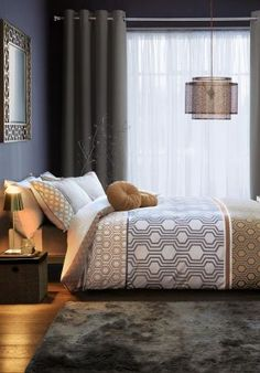 Buy Cotton Rich Luxe Geo Stripe Bed Set from the Next UK online shop King Size Comforter Sets, Duvet Sets, Striped Bedding, Black Bedding, Rustic Bedding, Linen Bedding, Bed Linens, Gold Bedding, Apartment Therapy
