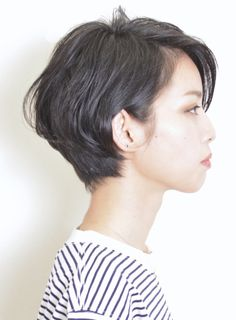 【ショートヘア】大人の黒髪☆シンプルショート/terraceの髪型・ヘアスタイル・ヘアカタログ|2016冬春