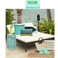 Pillow Decor by sierraday on Polyvore. Ocean Minded and Sun N' Sand.