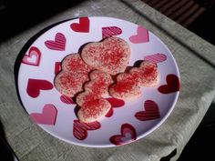 Valentine Sugar Cookies - CDKitchen.com -  These sugar cookies use powdered sugar rather than granulated in the dough. The dough is chilled, rolled out, cut with your favorite Valentine's Day cookie cutters, and sprinkled with red decorator's sugar before baking.