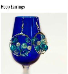 Blue-tiful hoop earrings