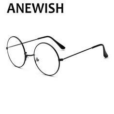 39bb92ff4a076 Anewish nova rodada vintage óculos homens mulheres harry potter óculos de  armação de prescrição óculos oculos de grau femininos   81 em Armações de  óculos ...