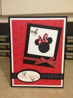 Catherine Stockley carved this Minnie stamp.