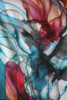 Hand painted silk scarf by Asta Masiulyte