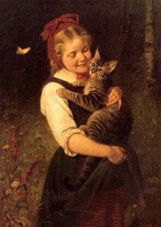 Girl With Cat 3