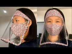 DIY Face Shield How to make a face shield mask from clear sheets Sewing Hacks, Sewing Tutorials, Sewing Patterns, Mouth Mask Fashion, Fashion Face Mask, Diy Mask, Diy Face Mask, Face Diy, Face Masks