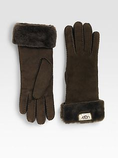 UGG Australia - Shearling Turn-Cuff Gloves, for the sis in snowy South Dakota.