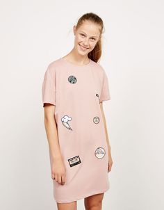 'Patches' dress. Discover this and many more items in Bershka with new products every week