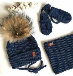 papaq elcek serf sherf toxuma knitting el isi handmade qar qis qartopu soyuq baki like love lovely cute Baby Boy Knitting Patterns, Baby Hats Knitting, Knitting For Kids, Crochet Patterns, Crochet Cross, Crochet Baby, Knit Crochet, Wooly Hats, Knitted Hats