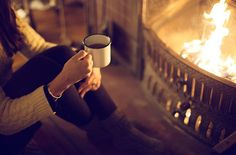 Hot chocolate or coffee by the fire..