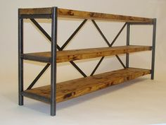 Slim Console, metal and wood