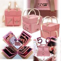 Handbag Exploding Box Card by: SusD