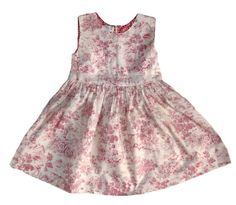 Girl Toile Dress in Pink by Renattoni on Etsy, $42.00