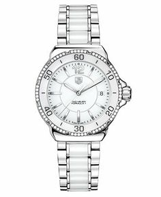 TAG Heuer Watch, Women's Formula 1 Diamond (1/3 ct. t.w.) Stainless Steel Bracelet 37mm WAH1213.BA0861 - Women's Watches - Jewelry & Watches - Macy's