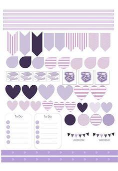 Planner & Journaling Printables ❤ Plan with samia Free Planner, Happy Planner, Planner Ideas, Planner Decorating, Kikki K, Planner Organization, Organizing, Printable Planner Stickers, Project Life