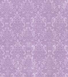 Buttercream™ Cosette Collection Cotton Fabric-Small Damask Purple