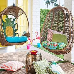 The Pier 1 Swingasan®. The only question is: Which one? Outdoor Balcony Furniture, Sunroom Furniture, Outdoor Rooms, Outdoor Living, Apartment Balcony Decorating, Interior Decorating, Interior Design, Beach Themed Crafts, Storybook Cottage