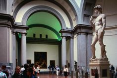 Michelangelo's statue of David in the Galleria dell'Accademia. book early (extra 4 euros, but saves 2 hour wait time)