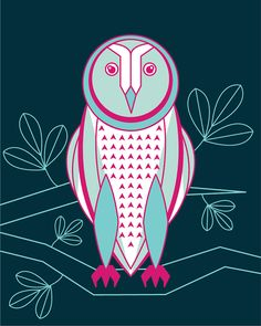 Owl Illustrations on Behance by Ursula Hockman