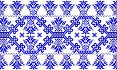 NM 94.110.1 Díszlepedő mintája Készítés ideje: XIX. század közepe Készítés helye: Erdély