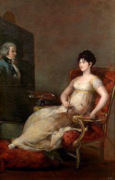 "goya francisco prt of maria tomasa de palafox y portocarrero marquesa de villafranca pintando a su marido 1804 (from <a href=""http://www.oldpainters.org/picture.php?/26548/category/10347""></a>)"