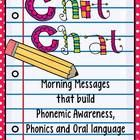 Chit Chat Morning Messages Set 1 {aligned with Common Core Standards} by Deanna Jump - Due to popular request I have created a resource for my Chit Chat Messages. This packet is the first in a series. The skills covered in this unit. Teaching Kindergarten, Teaching Reading, Teaching Ideas, Learning, Montessori, Responsive Classroom, First Grade Teachers, School Classroom, Classroom Ideas