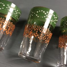 Hand Painted French vintage Glasses, for your Favourite Little Tipple!