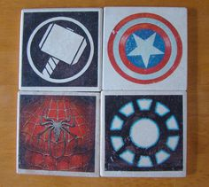 Marvel Super Hero Drink Coasters Set of 4