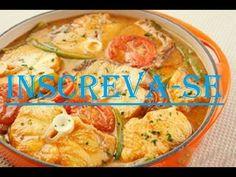 Postas de cação assado no forno, grelhado ou cozido na panela, com sumo de limao e tomates e cheiro verde, e talvez cebolas e batatas