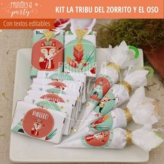 Party Decoration, Ideas Para Fiestas, Woodland Party, Wild Ones, Birthday Parties, Gift Wrapping, Candy, Kids, Kids Part