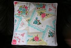 lovely little handmades: a vintage hankie pillow