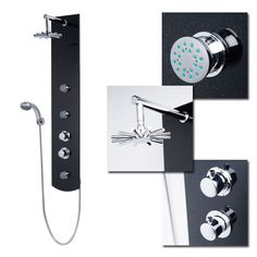 Crystal Thermostatic Shower Panel