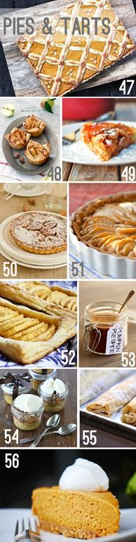 apple and pumpkin pie and tart recipes from http://whipperberry.com