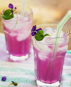 Got wild violets? Then it's easy to make this delish and gorgeous lemonade. How about for Mom on her special day? http://www.kitchenlane.com/2014/05/its-wild-violet-season-and-like-many.html