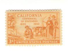 10 Unused 1950 California Statehood by MyVintagePostOffice on Etsy