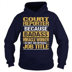 Awesome Tee For Court Reporter - #personalized sweatshirts #cool t shirts for men. ORDER NOW => https://www.sunfrog.com/LifeStyle/Awesome-Tee-For-Court-Reporter-93833655-Navy-Blue-Hoodie.html?id=60505