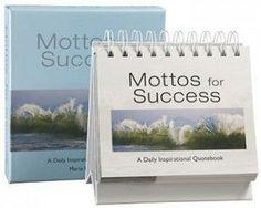 Mottos for Success Vol 1 Quote Book and Calendar
