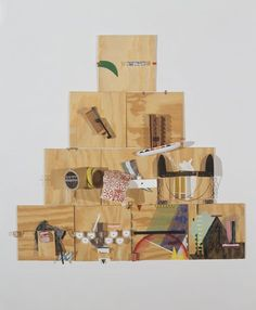 Richard Tuttle - American (Rahway, New Jersey, 1941) -'Ten, A' 2000, sculpture | wood, cardboard, museum board, foamboard, tissue paper, paper, sandpaper, sheet metal, Styrofoam, fabric, tape, nails, wire, rope, leather, thread, acrylic, gouache, and graphite http://www.sfmoma.org/explore/collection/artwork/104502 San Francisco Museum of Modern Art