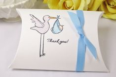 Stork Baby Shower Favor Box Baby Boy Favor by ImagineandInspire, $19.00