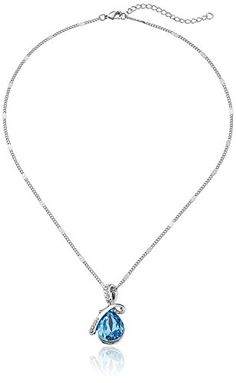 Hot Women Silver Plated Crystal Drop Pendant Necklace Fashion Jewelry buytra